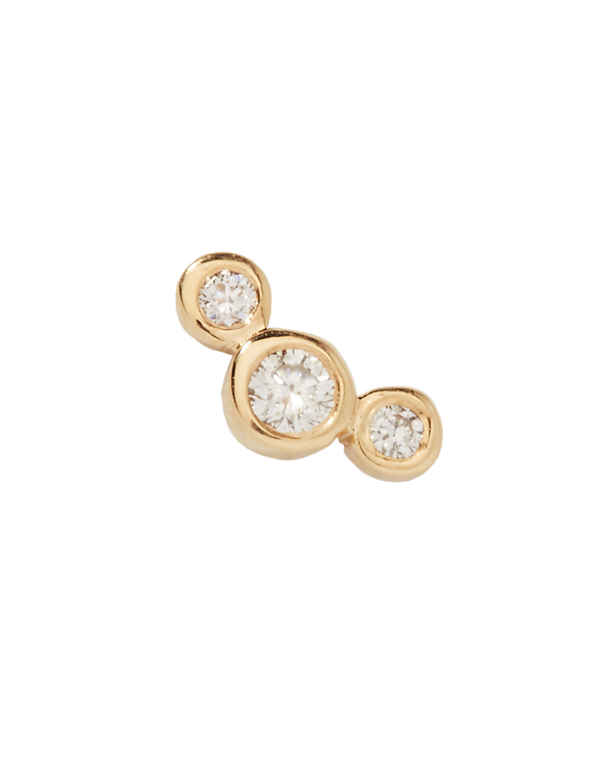 Graduated Diamonds Single Earring, GOLD, hi-res
