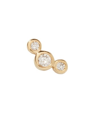 Small Graduated Diamond Stud, GOLD, hi-res