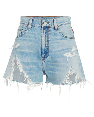 Nic High-Rise Distressed Shorts, MEDIUM DENIM WASH, hi-res