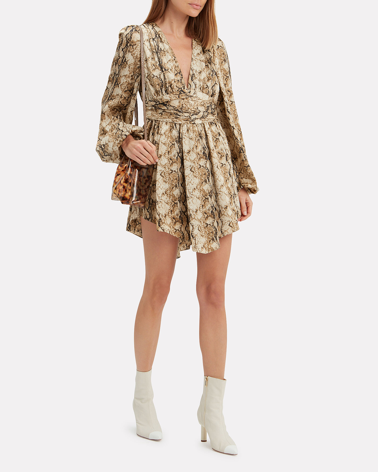 Orzora Snake Print Mini Dress, MULTI, hi-res