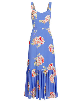 Mitzie Floral Sleeveless Dress, BLUE/FLORAL, hi-res