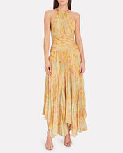 Grace Tiered Pleated Maxi Dress, YELLOW, hi-res