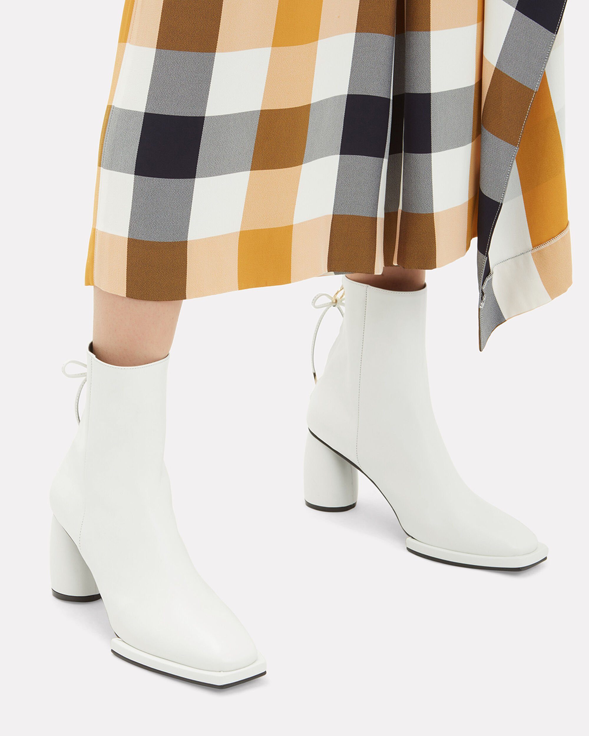 Ribbon Booties, WHITE, hi-res