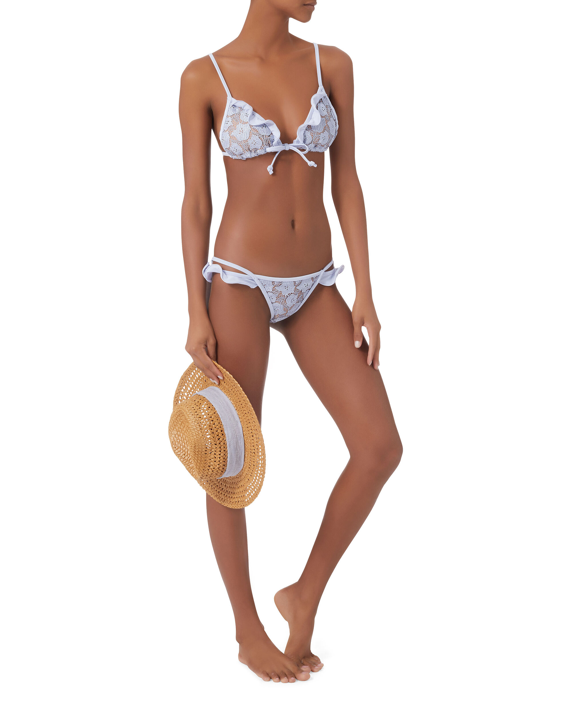 Beverly Lace Low-Rise Bikini Bottom, BLUE, hi-res