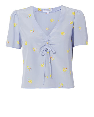 Geneva Floral Top, BLUE-MED, hi-res