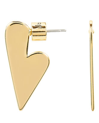 Lovestruck Heart Earrings, GOLD, hi-res