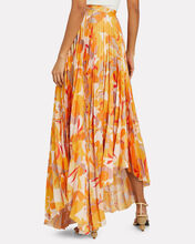 Hooper Pleated Maxi Skirt, GOLD/IVORY FLORALS, hi-res