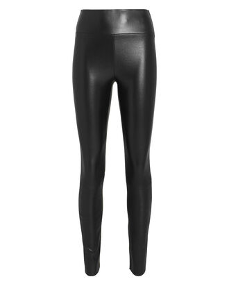 High-Rise Leather Leggings, BLACK, hi-res