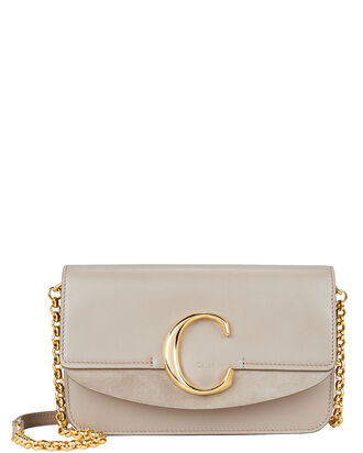 Logo Chain Crossbody, GREY, hi-res