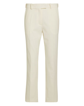 Oscar Drill Wool Trousers, IVORY, hi-res