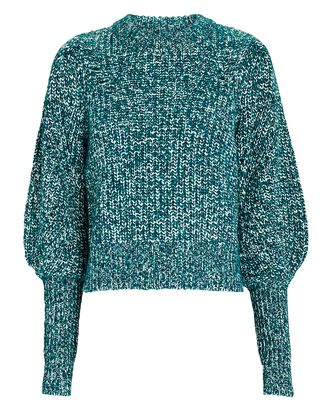 Roopa Puff Sleeve Sweater, GREEN, hi-res