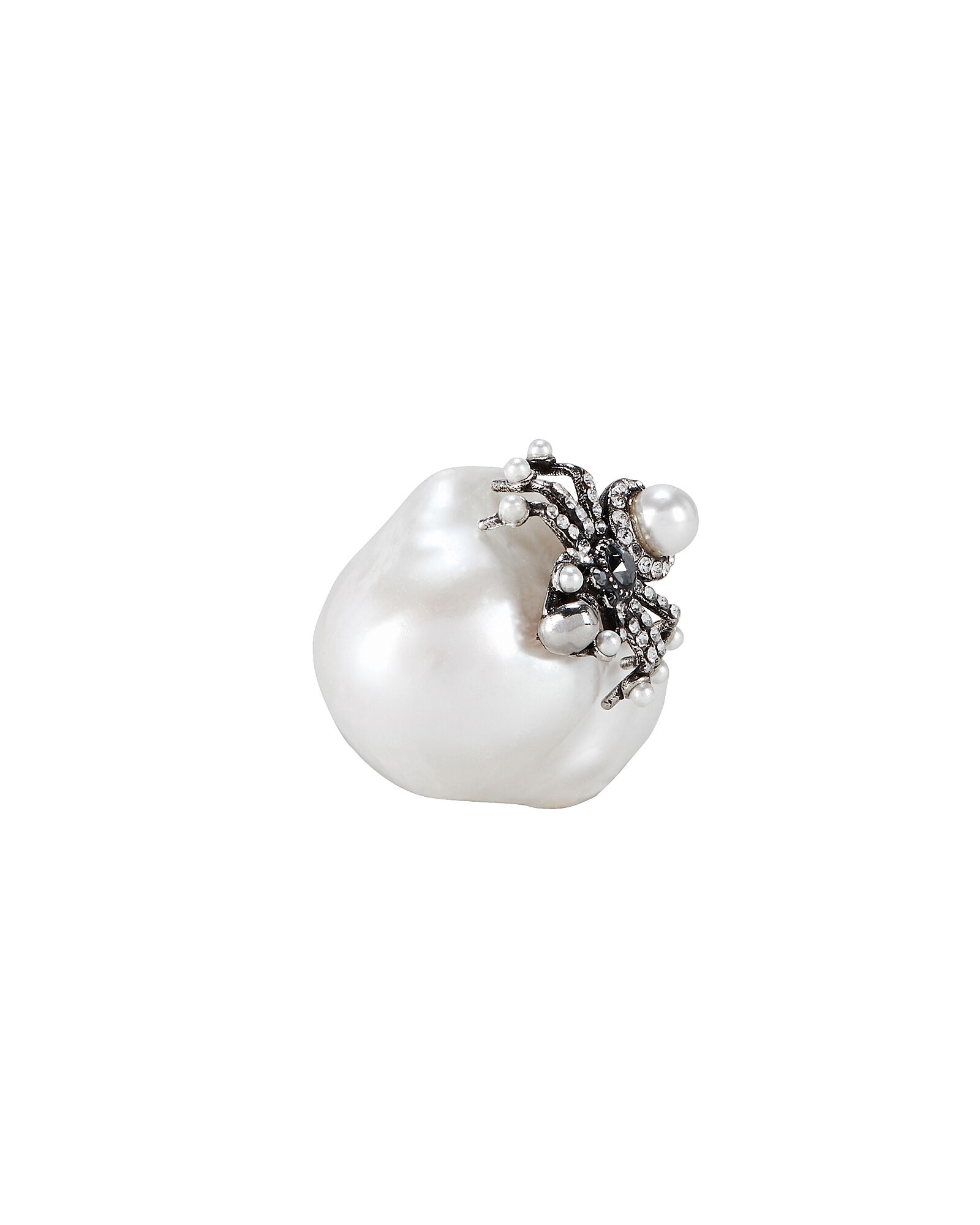 Spider Pearl Ring, SILVER, hi-res