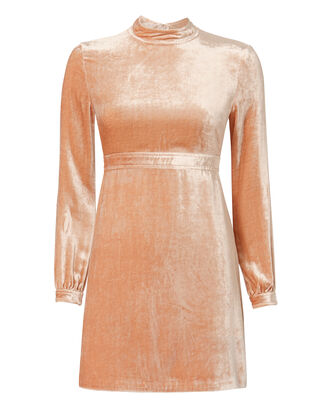 Gemma Velvet Mini Dress, PINK, hi-res