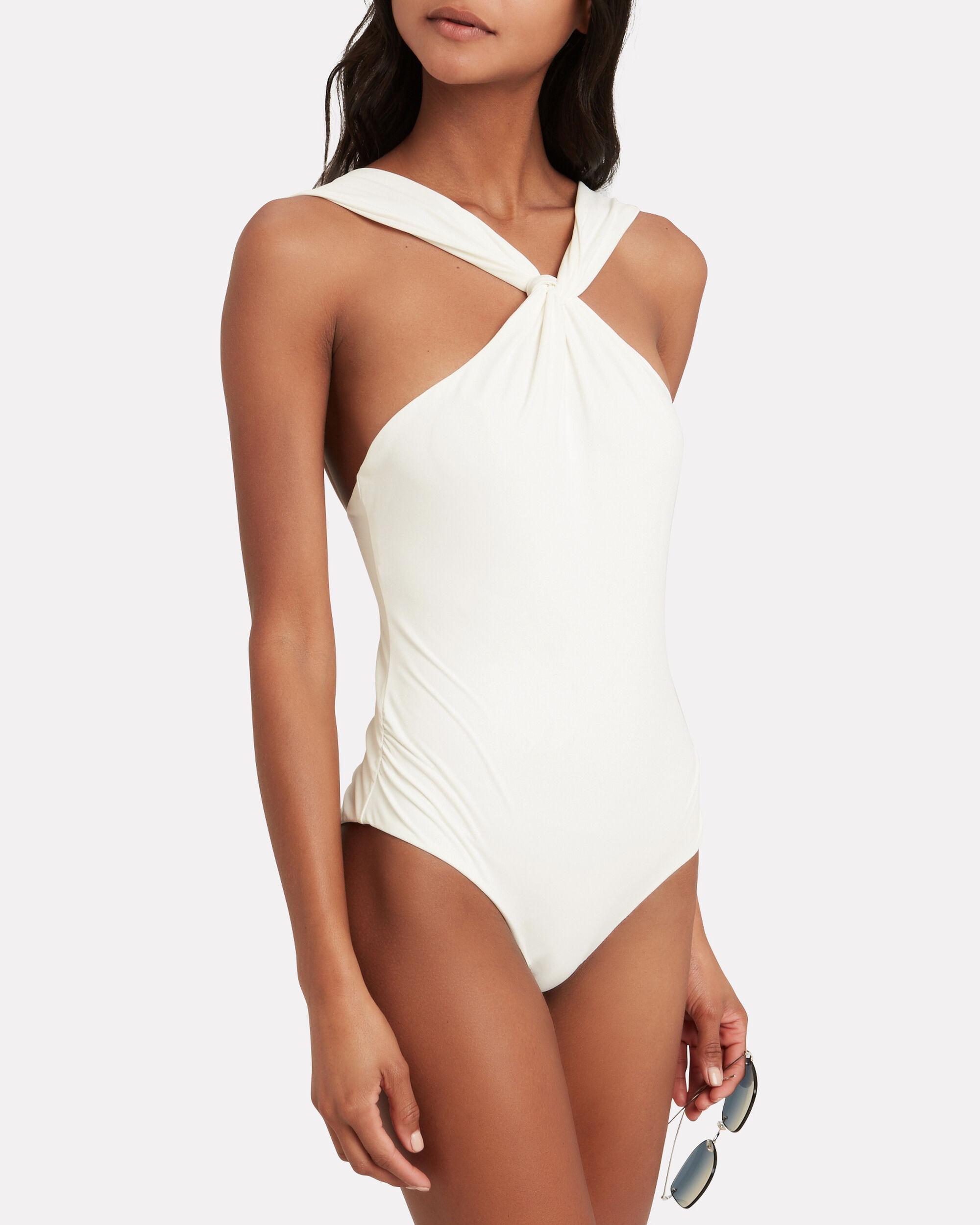 South Folk Maillot Swimsuit, WHITE, hi-res