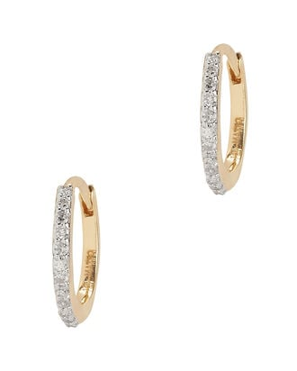 Diamond Huggie Hoops, GOLD, hi-res