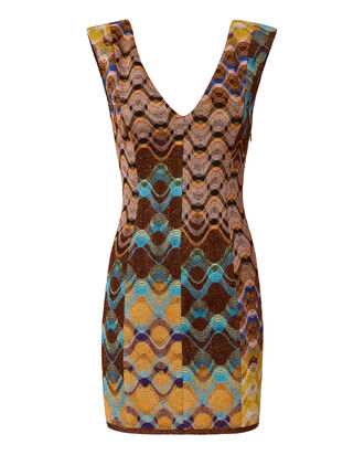 Multi Lurex V-Neck Dress, MULTI, hi-res
