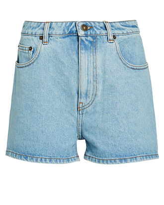 Ren High-Rise Denim Shorts, LIGHT WASH DENIM, hi-res