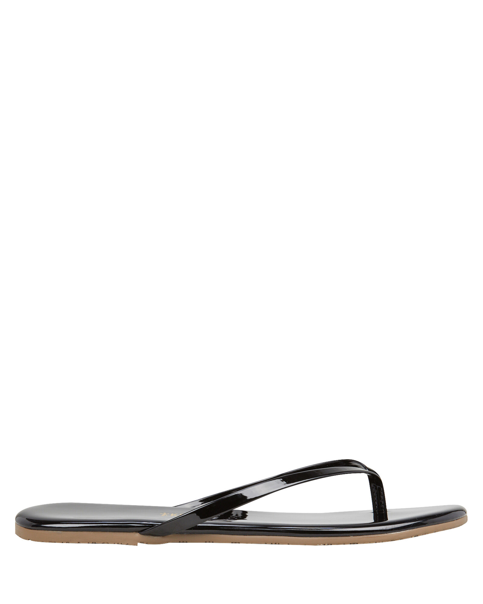 Gloss Flip Flops, BLACK, hi-res