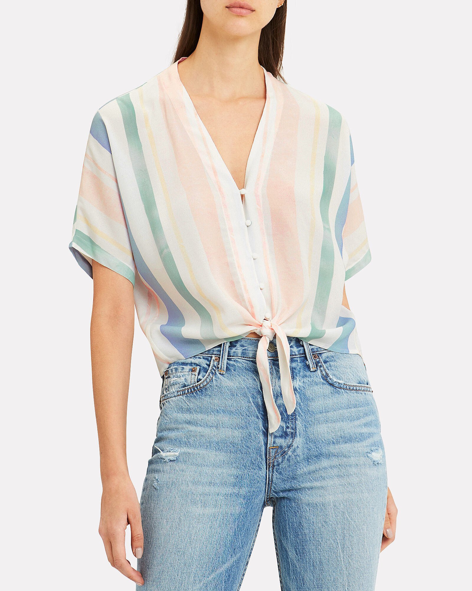 Thea Striped Top, MULTI, hi-res