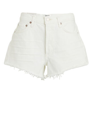 Parker Cut-Off Denim Shorts, WHITE, hi-res