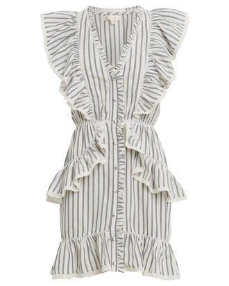 India Striped Voile Dress, MULTI, hi-res
