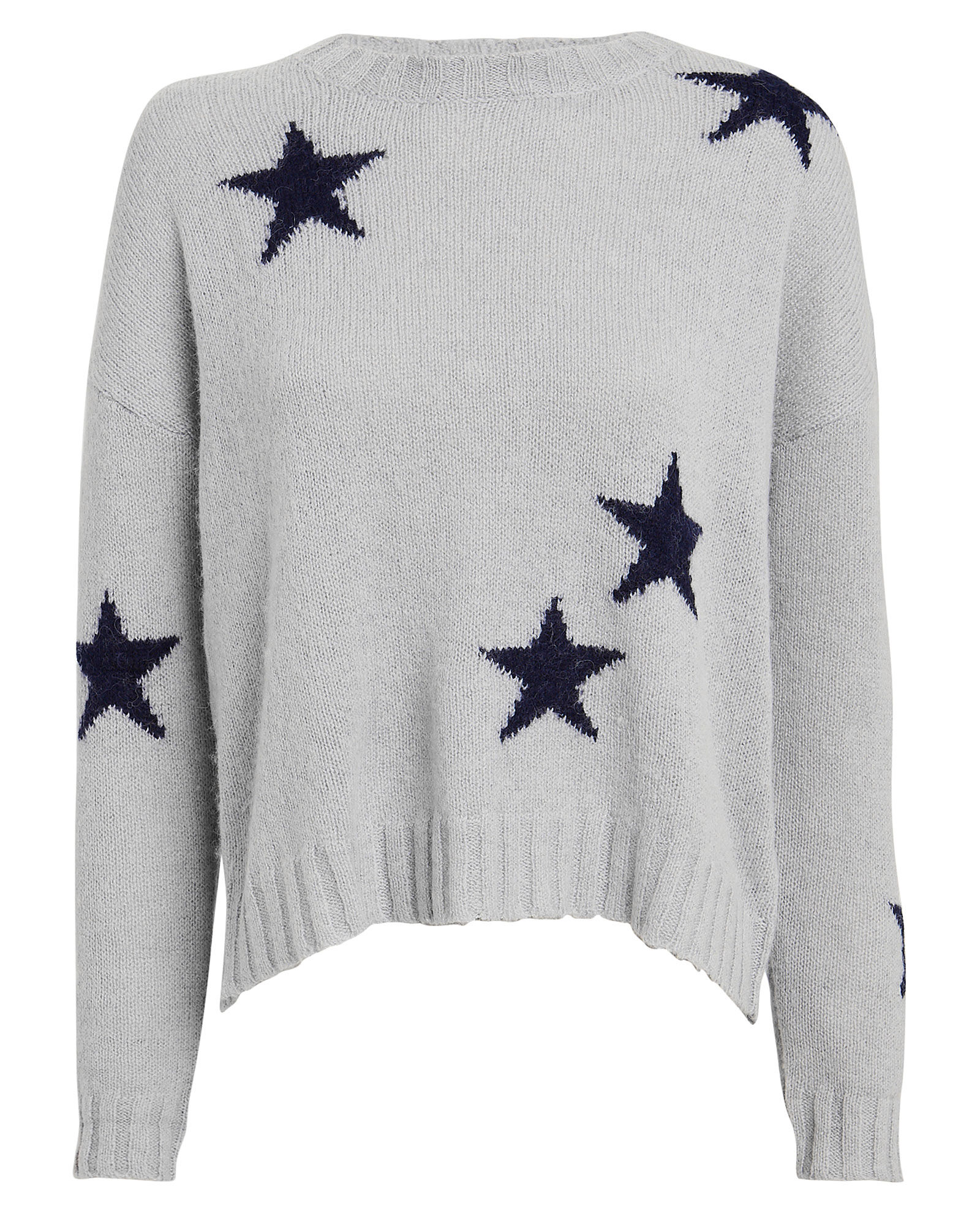 Perci Wool-Blend Star Sweater, HEATHER GREY, hi-res