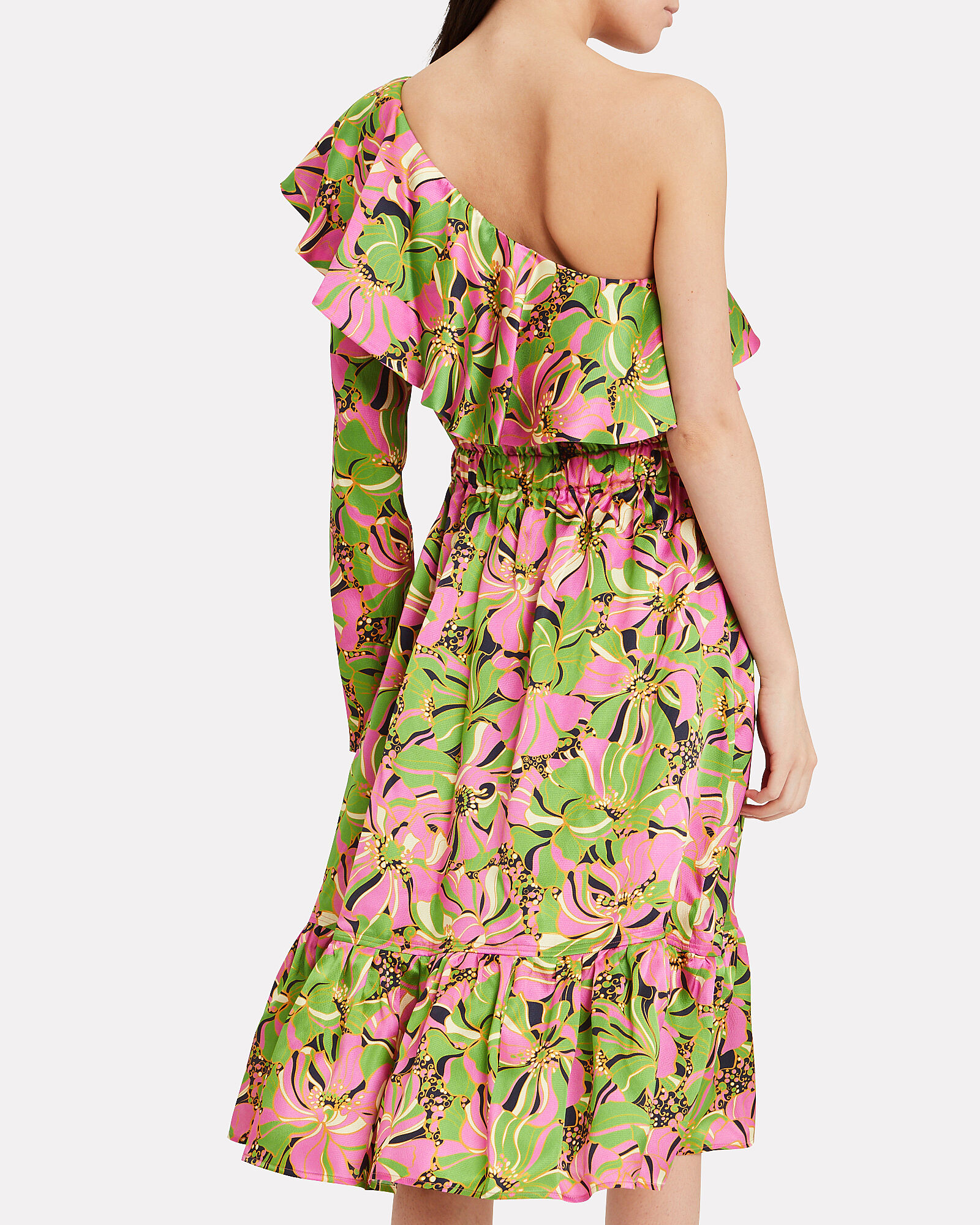 One Shoulder Boogie Dress, MULTI, hi-res