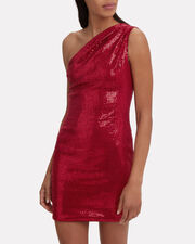 Valentina Sequin Mini Dress, RED, hi-res