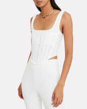 Sheer Jersey Corset Top, IVORY, hi-res