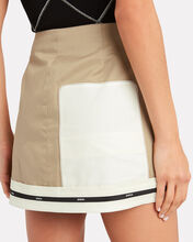 Inverted Cargo Mini Skirt, KHAKI/WHITE, hi-res