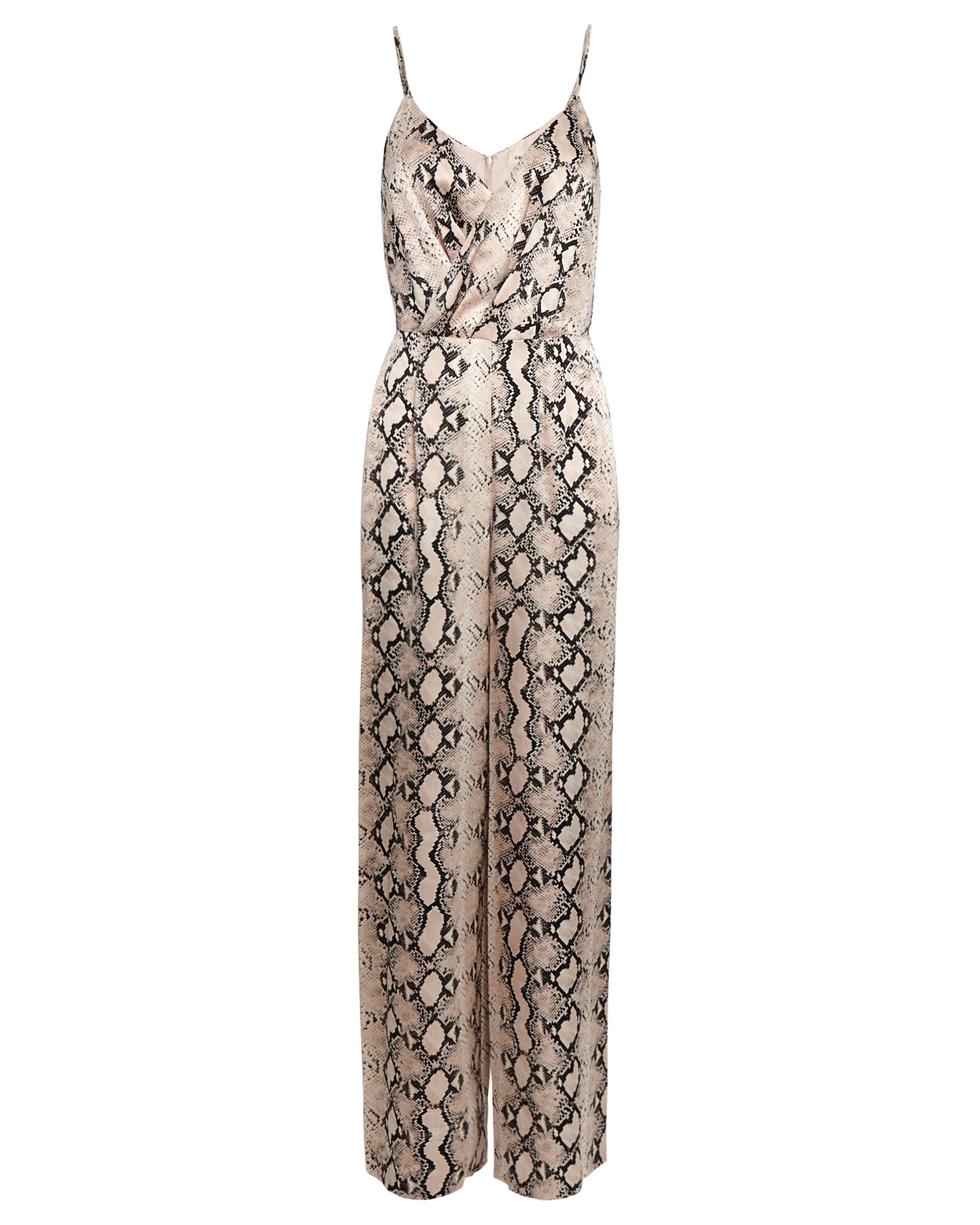 Maeve Snake Print Silk Jumpsuit, BLUSH/BLACK, hi-res
