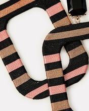 Oprah Geometric Stripe Earrings, BLACK, hi-res