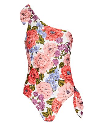 Poppy Floral One-Piece Swimsuit, PINK/RED, hi-res