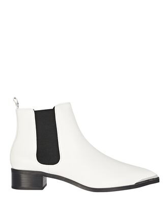 Latoya Chelsea Leather Ankle Boots, WHITE, hi-res