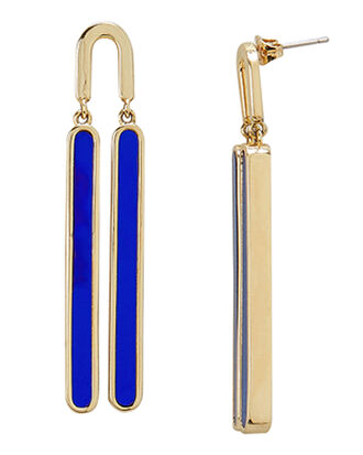 Reflection Cobalt Swing Earrings, BLUE-DRK, hi-res