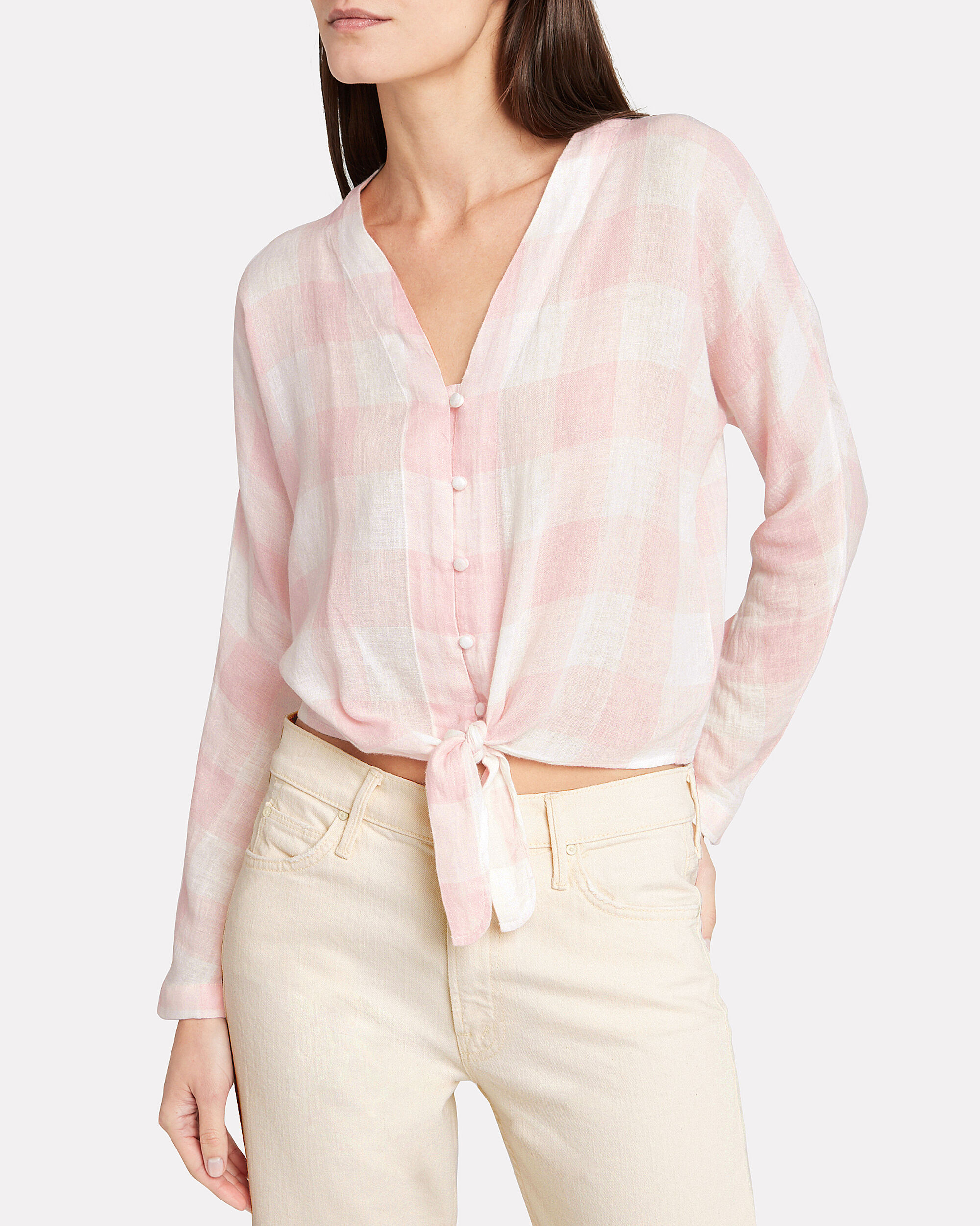 Sloane Button Down Shirt, PINK/WHITE, hi-res