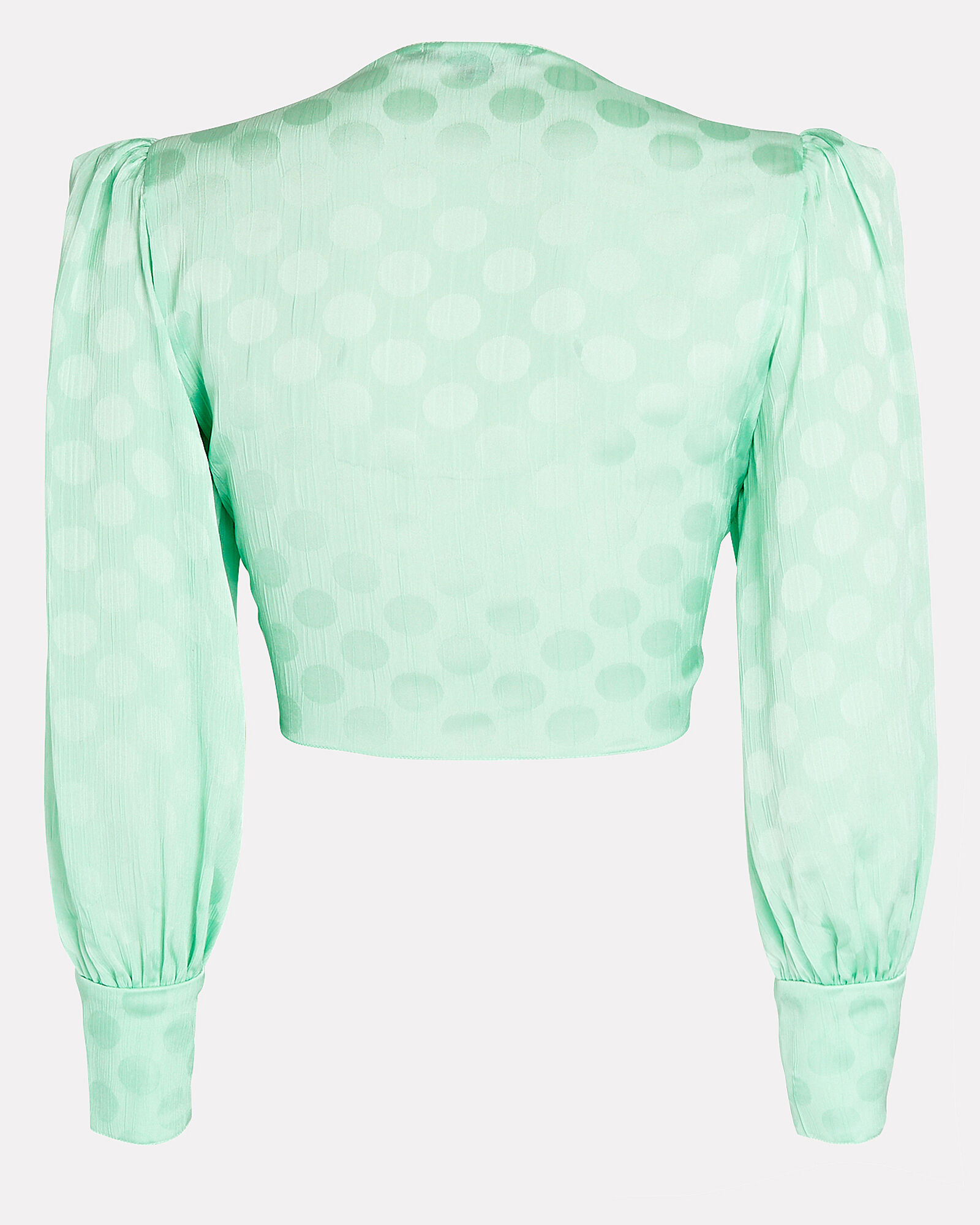Crepe Tie-Front Crop Top, GREEN-LT, hi-res