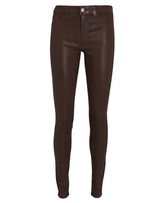 Marguerite Coated Skinny Jeans, COCOA, hi-res