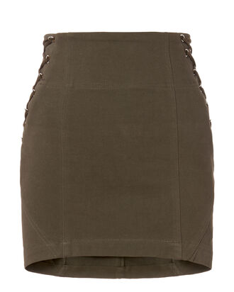 Corset Mini Skirt, GREEN, hi-res