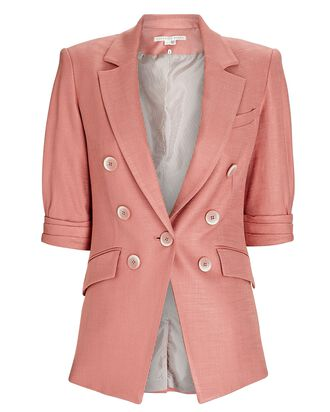 Odile Double-Breasted Dickey Blazer, PINK, hi-res