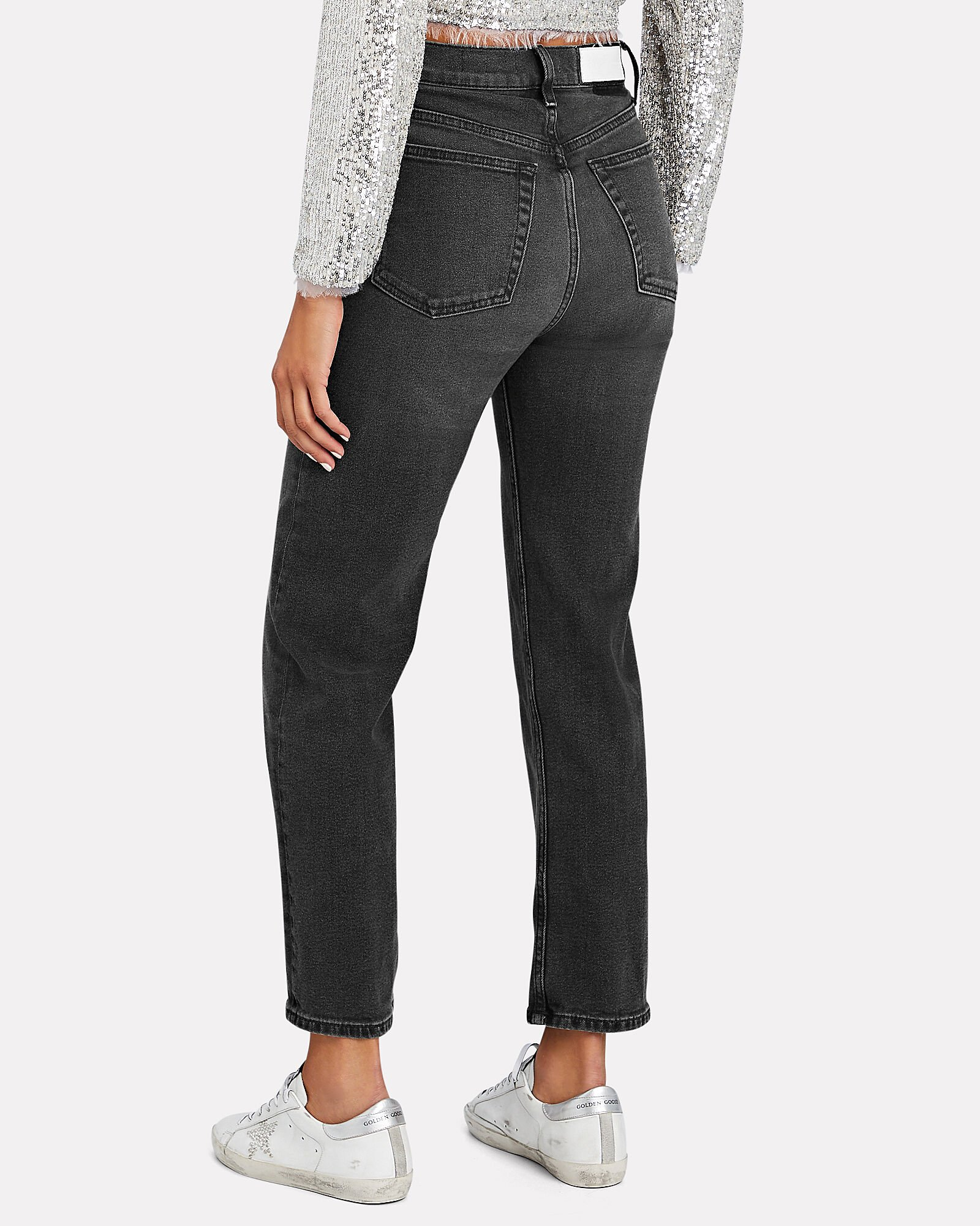 70s High-Rise Stove Pipe Jeans, BLACK, hi-res