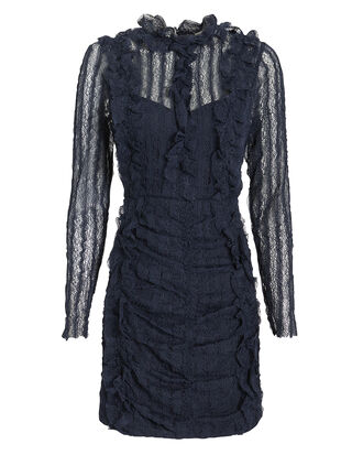 Avignon Mini Dress, NAVY, hi-res