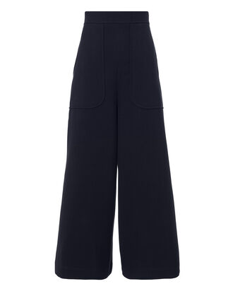 Wide Leg Culottes, NAVY, hi-res