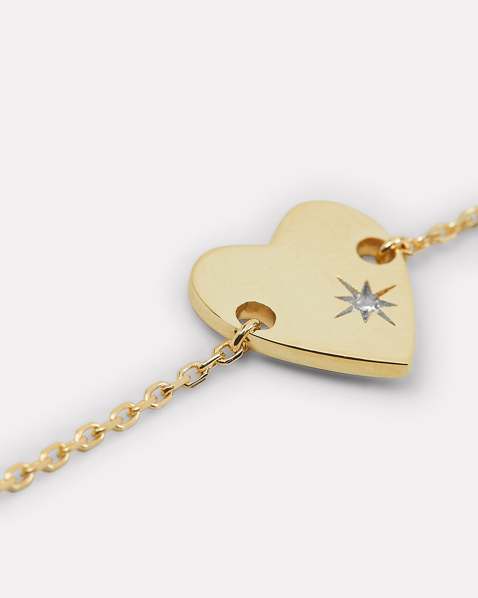 Diamond Heart Stamp Bracelet, GOLD, hi-res