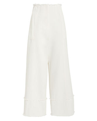 Francesca Wide Leg Pants, IVORY, hi-res