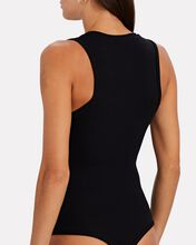Merit V-Neck Knit Bodysuit, BLACK, hi-res