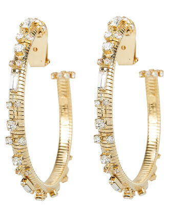 Ago Crystal Hoops, GOLD, hi-res
