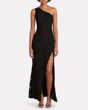 Selma Lace One-Shoulder Dress, BLACK, hi-res