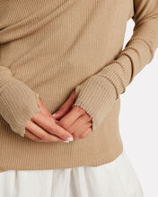 Slouch Ribbed Jersey Top, SANDSTONE, hi-res
