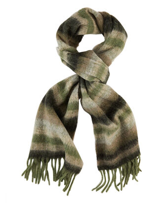Ibisco Alpaca Scarf, GREEN/STRIPE, hi-res